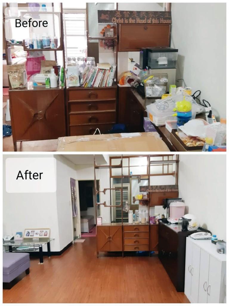 整理前和整理後的環境空間大不同(圖/廖心筠臉書)