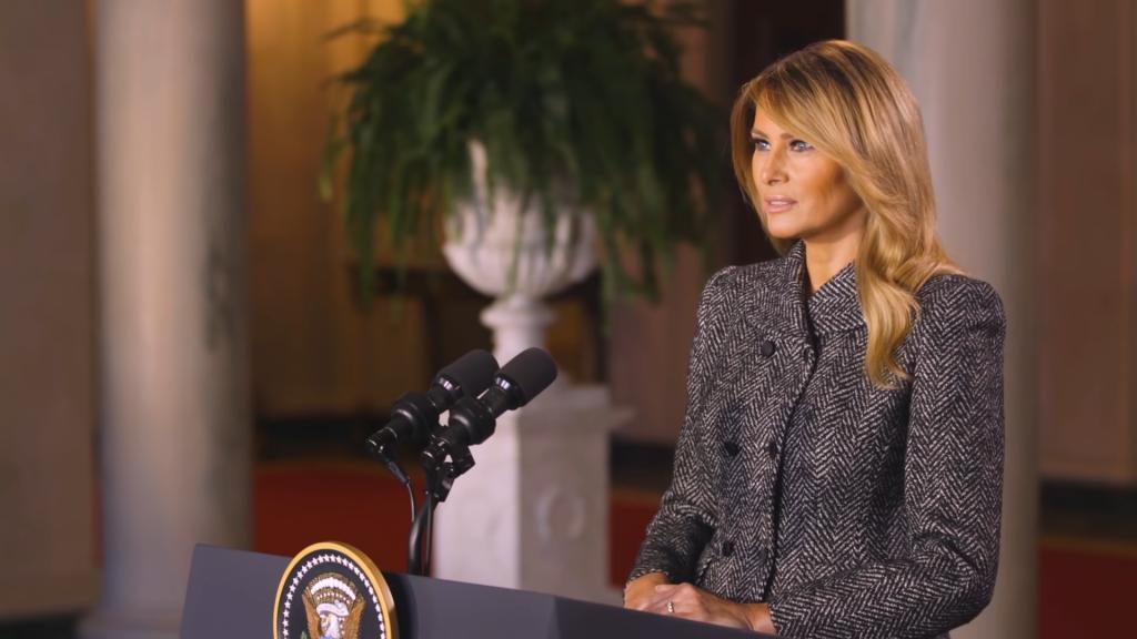 梅蘭妮亞告别演說(圖/YouTube @The White House)