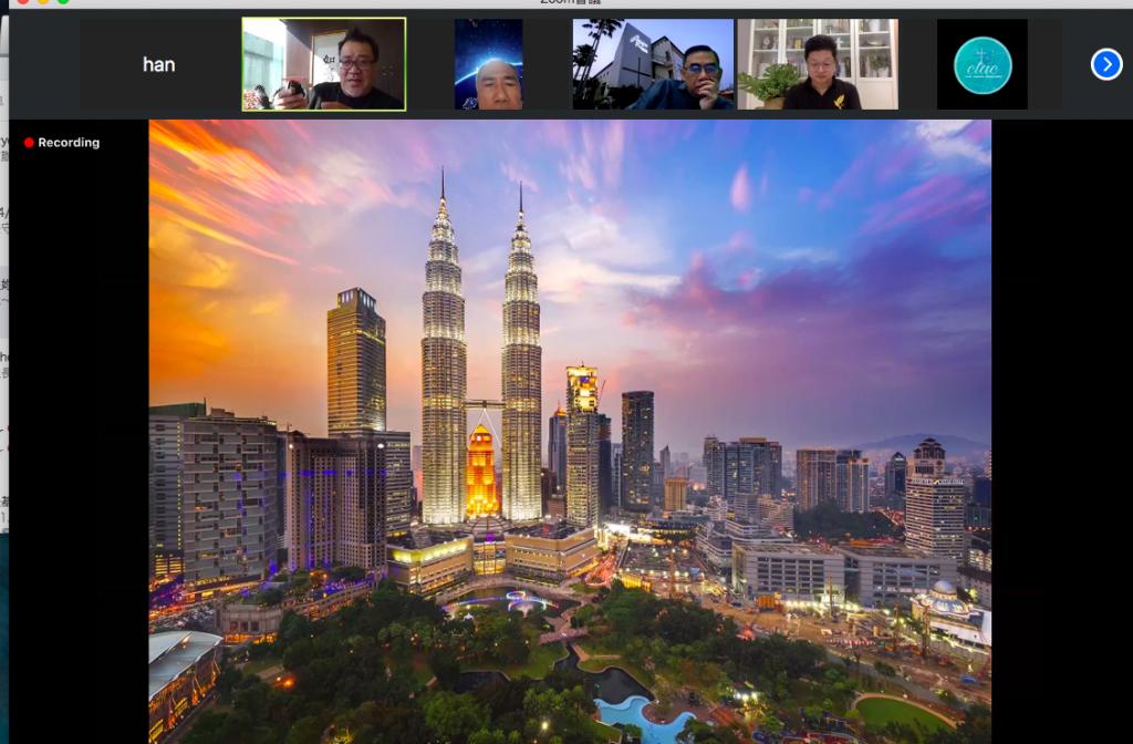 馬來西亞媒體資訊中心研討會議在zoom視訊平台上上進行。(截圖/zoom@大馬媒體資訊中心)