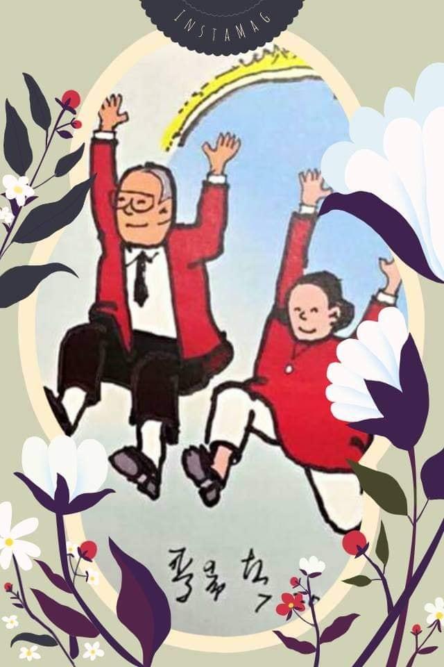 麥希真牧師畫圖表達他們快樂老人的心情(圖/麥希真牧師臉書)