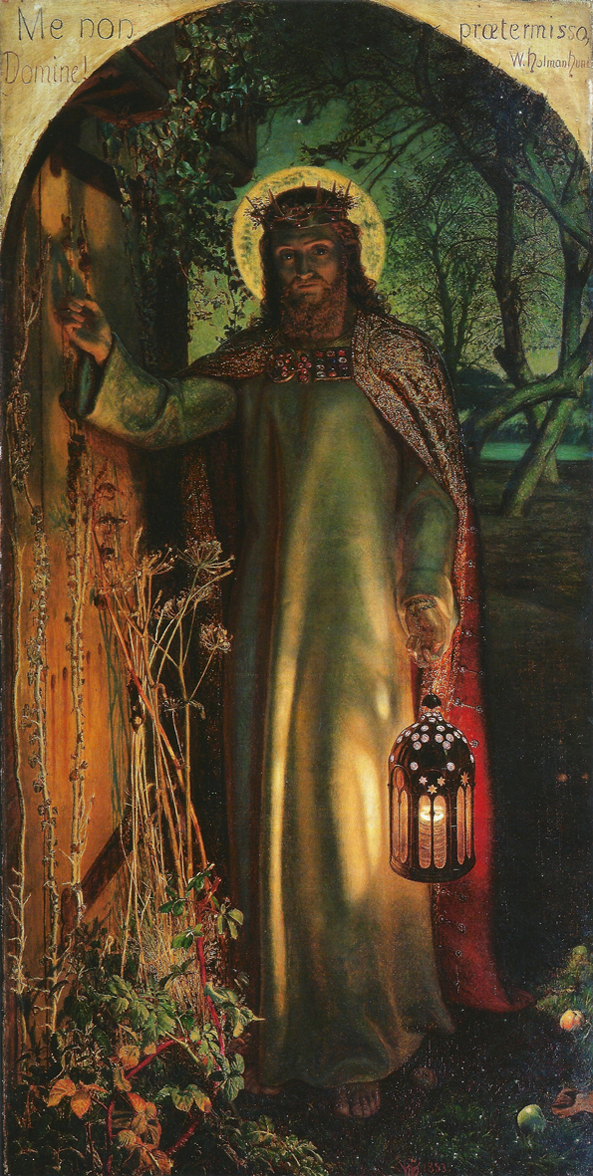 圖3. William Holman Hunt,The Light of the World, 1851-52.  Oil on canvas, 122 x 60.5 cm. Keble College, Oxford.