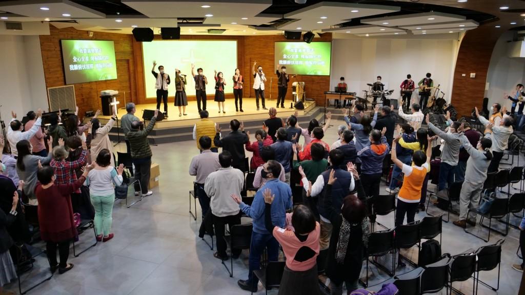 大台南牧者聯誼會敬拜。(圖/台南聖教會高敏智主任牧師臉書)