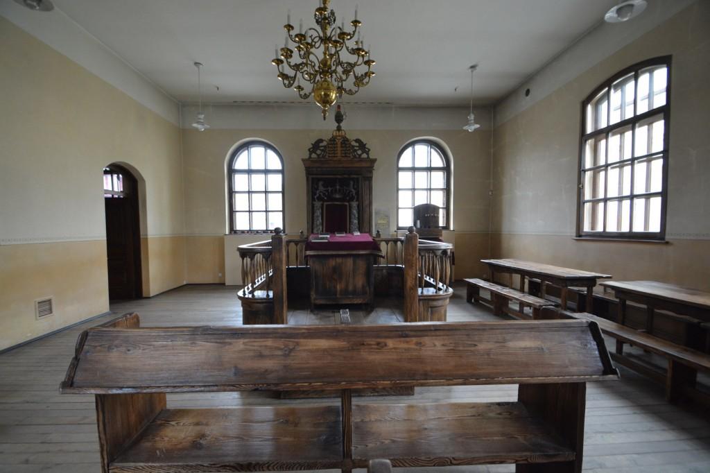 ↑奧斯維辛集中營的猶太會堂,供來訪的猶太遊客使用。