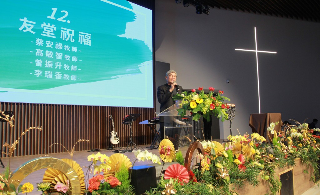 台南大光教會蔡安祿牧師。(羅士硯弟兄提供)