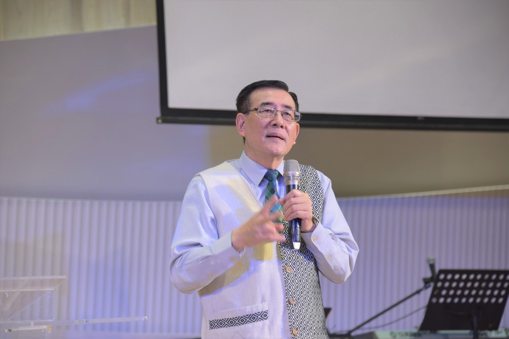 右昌長老教會陳見岳主任牧師。(謝宜汝攝影)
