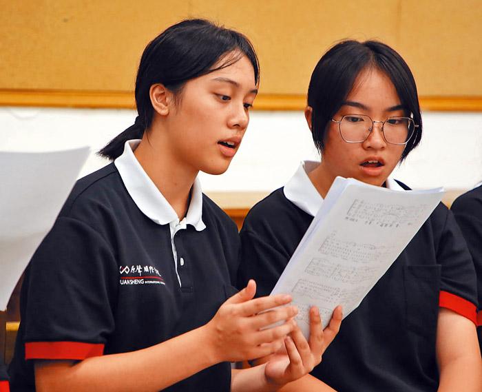 原聲國際學院合唱課程。