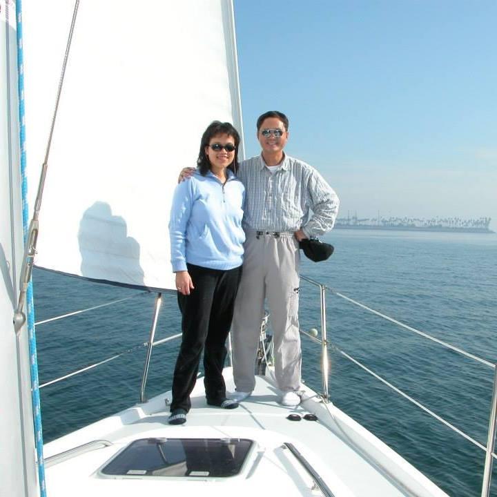 陳俊偉與太太合照。(圖/受訪者提供)