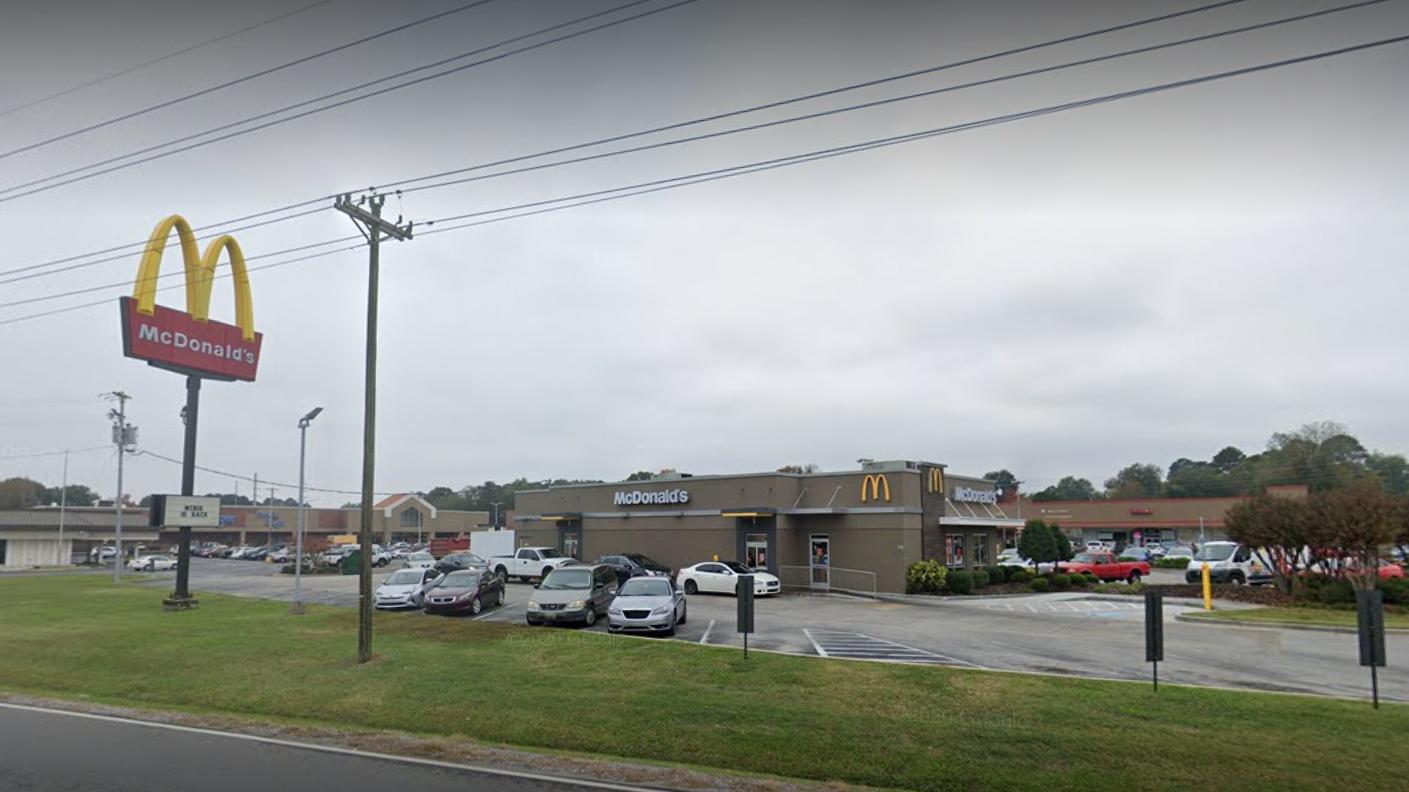 柏克絲打工的麥當勞。(圖/Google Map)